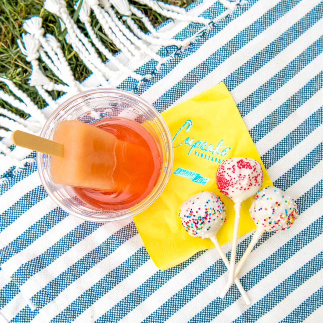 3. Cake Pops & Cupcake Rosé + Grapefruit Mint Ice Pop