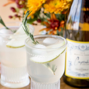 Cupcake Vineyards Rosemary Pear Fizz