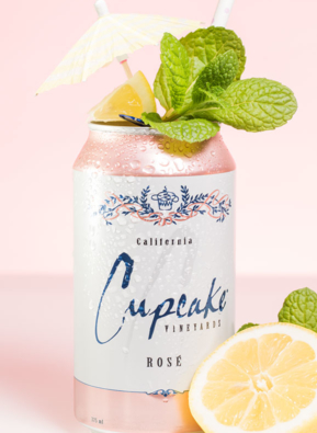 Cupcake Rosé Lemonade Can Cocktail